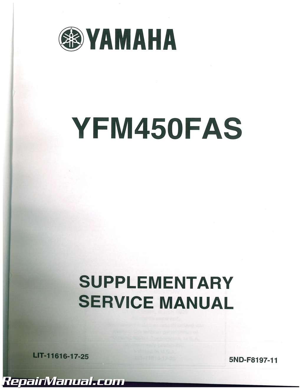 yfm450f yamaha kodiak 450 atv service manual 2003 2004 lit 11616 rh ebay com 2008 yamaha wolverine 450 owners manual yamaha wolverine 450 service manual free download