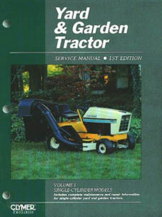 Yard Garden Tractor Service Manual for Single-Cylinder Tractors