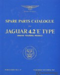 Jaguar E-Type Series 1 42 Spare Parts Manualue 1965-1968