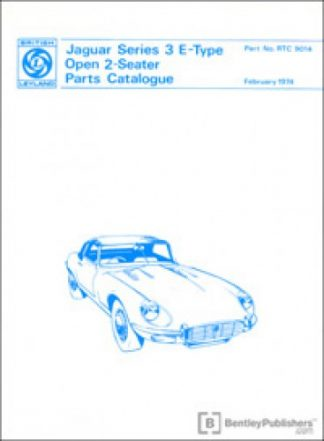 Jaguar E-Type Series 3 V12 Open 2-Seater Spare Parts Manualue 1971-1974