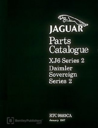 Jaguar XJ6 Series 2 Spare Parts Manualue 1972-1979