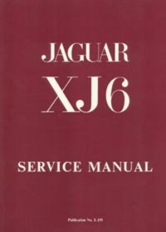 The Jaguar XJ6 Series 1 28 and 42 Litre Workshop Manual 1969-1973