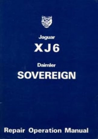 The Jaguar XJ6 Series 2 Workshop Manual 1974-1979