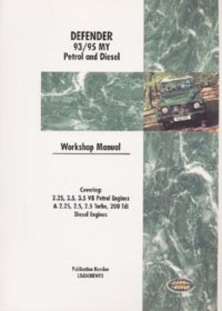 Land Rover Defender Workshop Manual 1993-1995