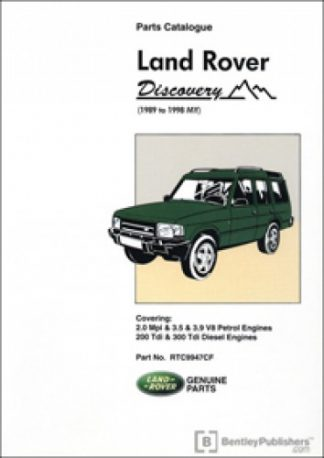 Land Rover Discovery Parts Manualue 1989 to 1998 MY