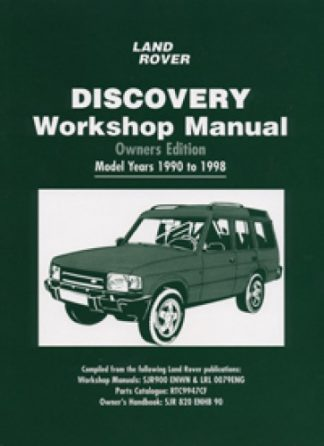 Land Rover Discovery Workshop Manual Owners Edition 1990-1998