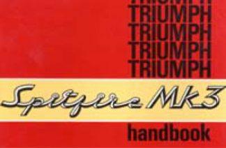 Triumph Spitfire Mk III Drivers Handbook 1969