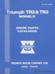 Triumph TR2 TR3 Spare Parts Catalog Manualue 1953-1963
