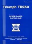 Triumph TR250 Spare Parts Manualue 1968
