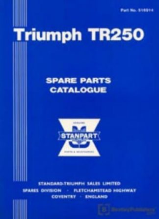 Triumph TR250 Spare Parts Manualue 1968