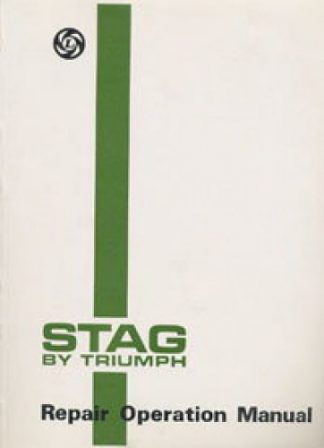 Triumph Stag Repair Operation Manual 1971-1973