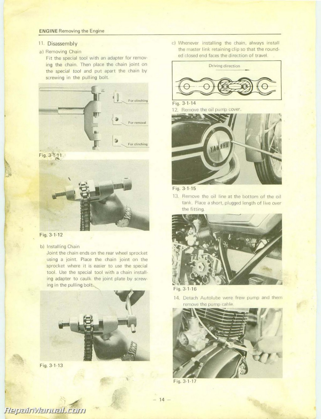 1975 Yamaha Rd 350 Owners Manual