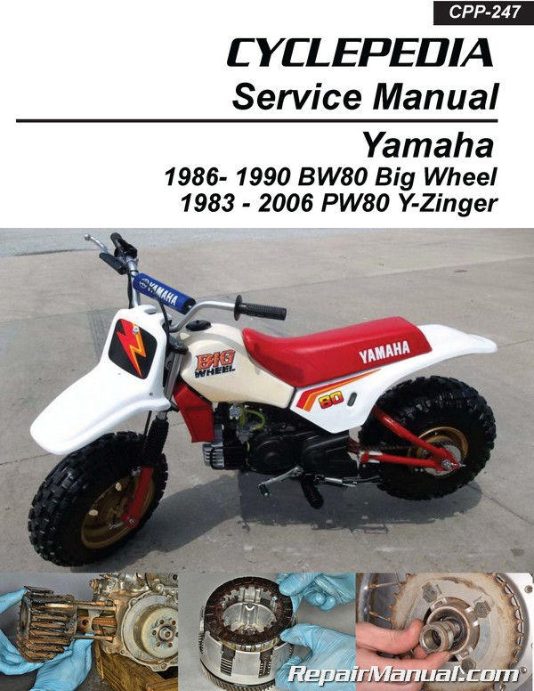 yamaha pw80 and bw80 cyclepedia printed service manual. Black Bedroom Furniture Sets. Home Design Ideas