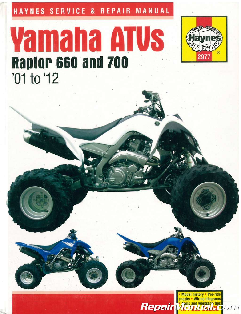 Wiring Diagram For A Yamaha Raptor 2012 Electrical Schematics Fuse Box 660 700 2001 Atv Repair Manual By Haynes Grizzly