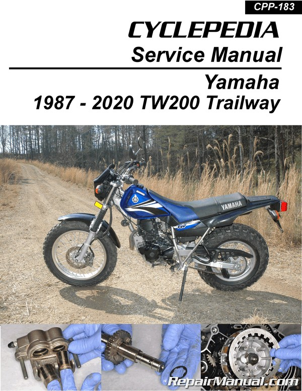 yamaha tw200 trailway cyclepedia motorcycle manual printed rh repairmanual com 2008 Yamaha TW200 1987 yamaha tw200 repair manual