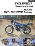 Yamaha TW200 Trailway Cyclepedia Motorcycle Manual - Printed_Page_1