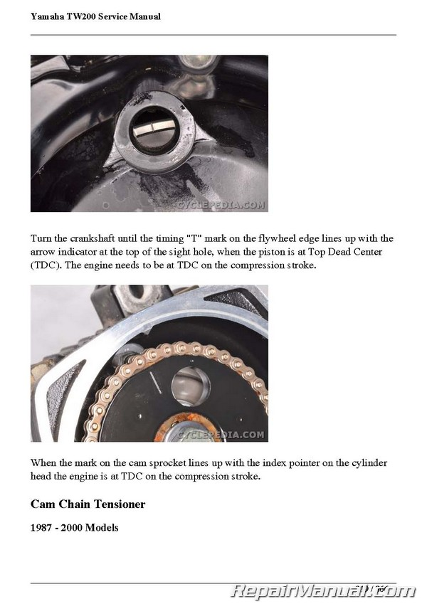 yamaha tw200 trailway cyclepedia motorcycle manual printed rh repairmanual com Yamaha TW200 Accessories service manual 1987 yamaha tw200