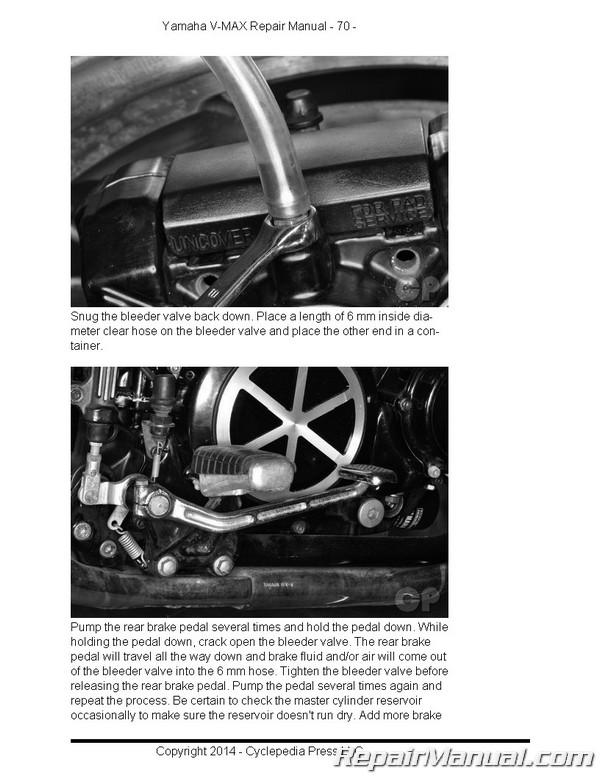 Yamaha Vmx1200 Vmax Motorcycle Cyclepedia Printed Service