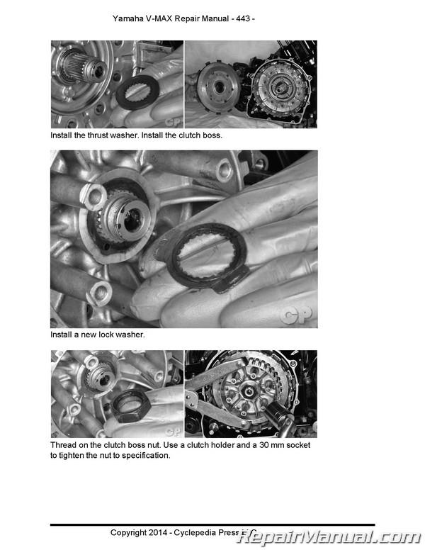Yamaha VMX1200 VMAX Motorcycle Cyclepedia Printed Service Manual on