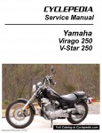 Yamaha Virago XV250 V-Star 250 Motorcycle Service Manual Cyclepedia Printed