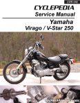 Yamaha Virago XV250 V-Star 250 Motorcycle Service Manual Cyclepedia Printed_Page_1