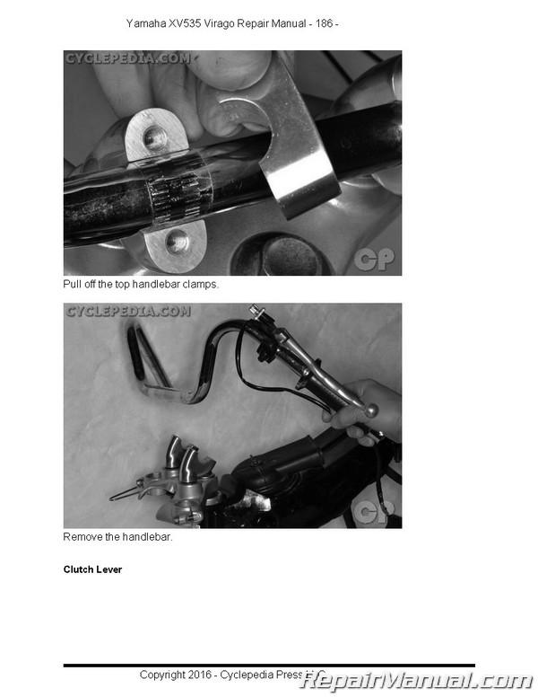 Yamaha virago xv535 cyclepedia printed motorcycle service manual.