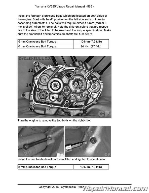 Yamaha xv535 assembly manual.