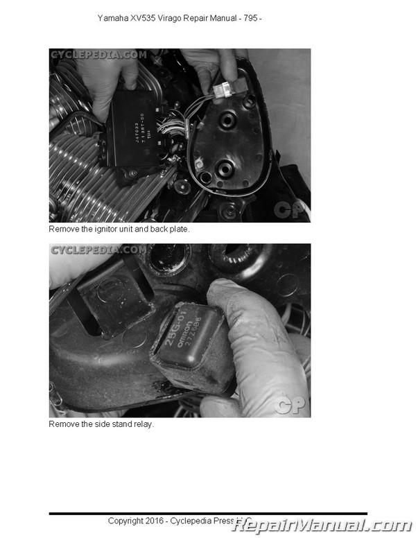 Yamaha virago 535 service & repair manual xv535 xv 1987-2000 | ebay.