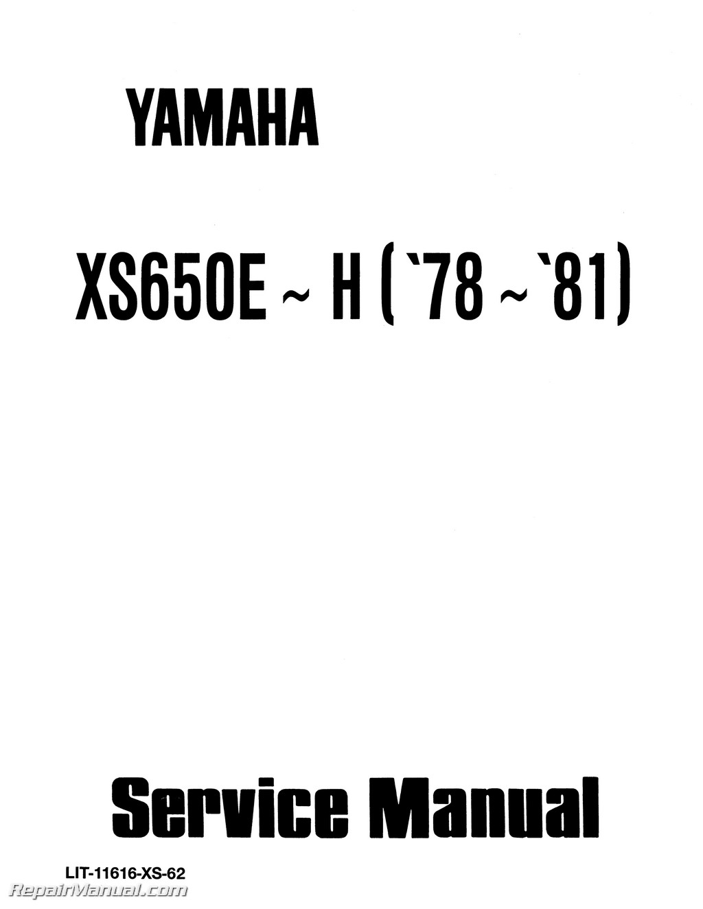 1978 1981 Yamaha Xs650 Service Manual Simple Wiring Diagram Electronic Ignition