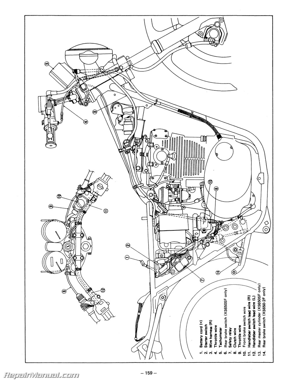 1981 yamaha xs650 ignition wiring diagram wiring library Yamaha Seca Wiring 1978 1981 yamaha xs650 service manual solenoid switch wiring diagram