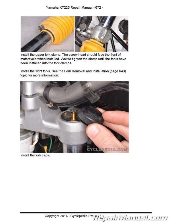 yamaha xt225 serow cyclepedia motorcycle service manual