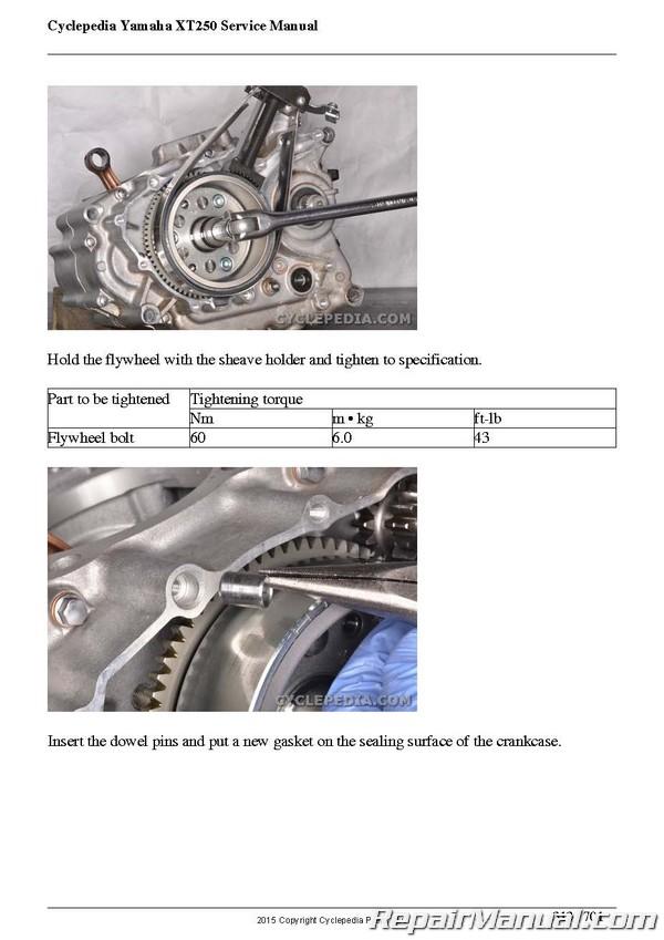 2008- 2012 Yamaha XT250 Carburetor Models Motorcycle Print Service Manual  by Cyclepedia