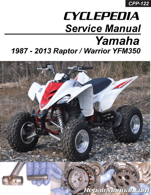 Yamaha YFM350 Raptor Warrior Cyclepedia Printed ATV Repair Manual_Page_1 yamaha yfm350 raptor warrior cyclepedia printed atv repair manual 2006 yamaha raptor 350 wiring diagram at nearapp.co