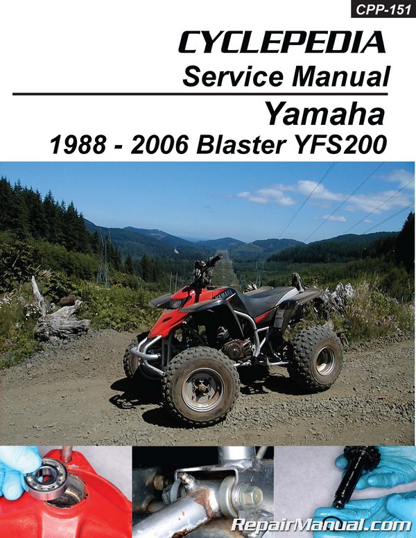 yamaha blaster yfs200 atv cyclepedia printed service manual rh repairmanual com yamaha blaster workshop manual free download yamaha wave blaster service manual