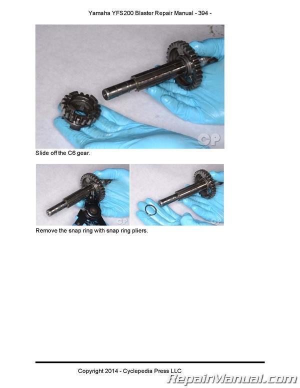 yamaha blaster yfs200 atv cyclepedia printed service manual