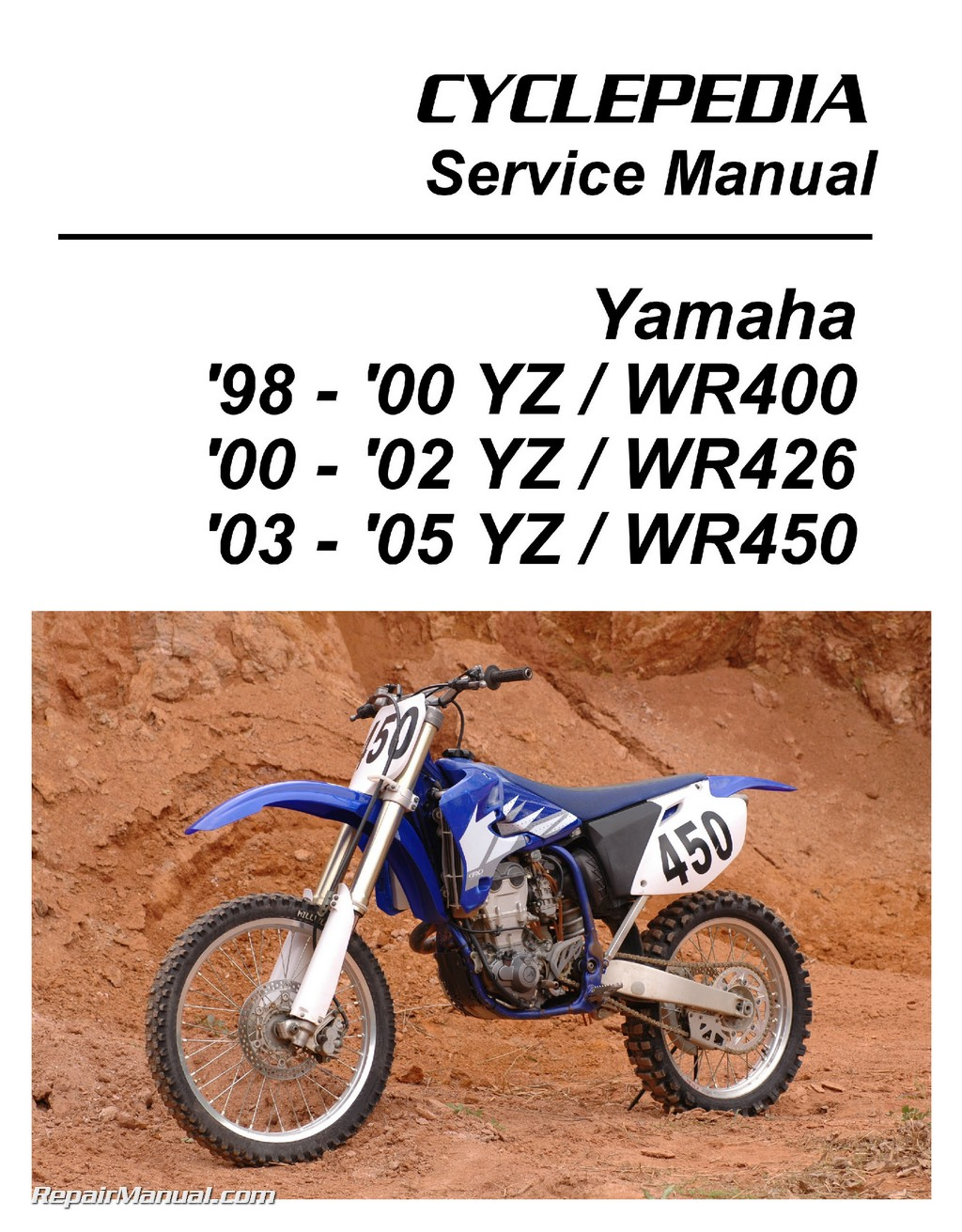 Yamaha Yz Wr 400 426 450f Cyclepedia Printed Motorcycle Service Manual 2002 125 Wiring Diagram