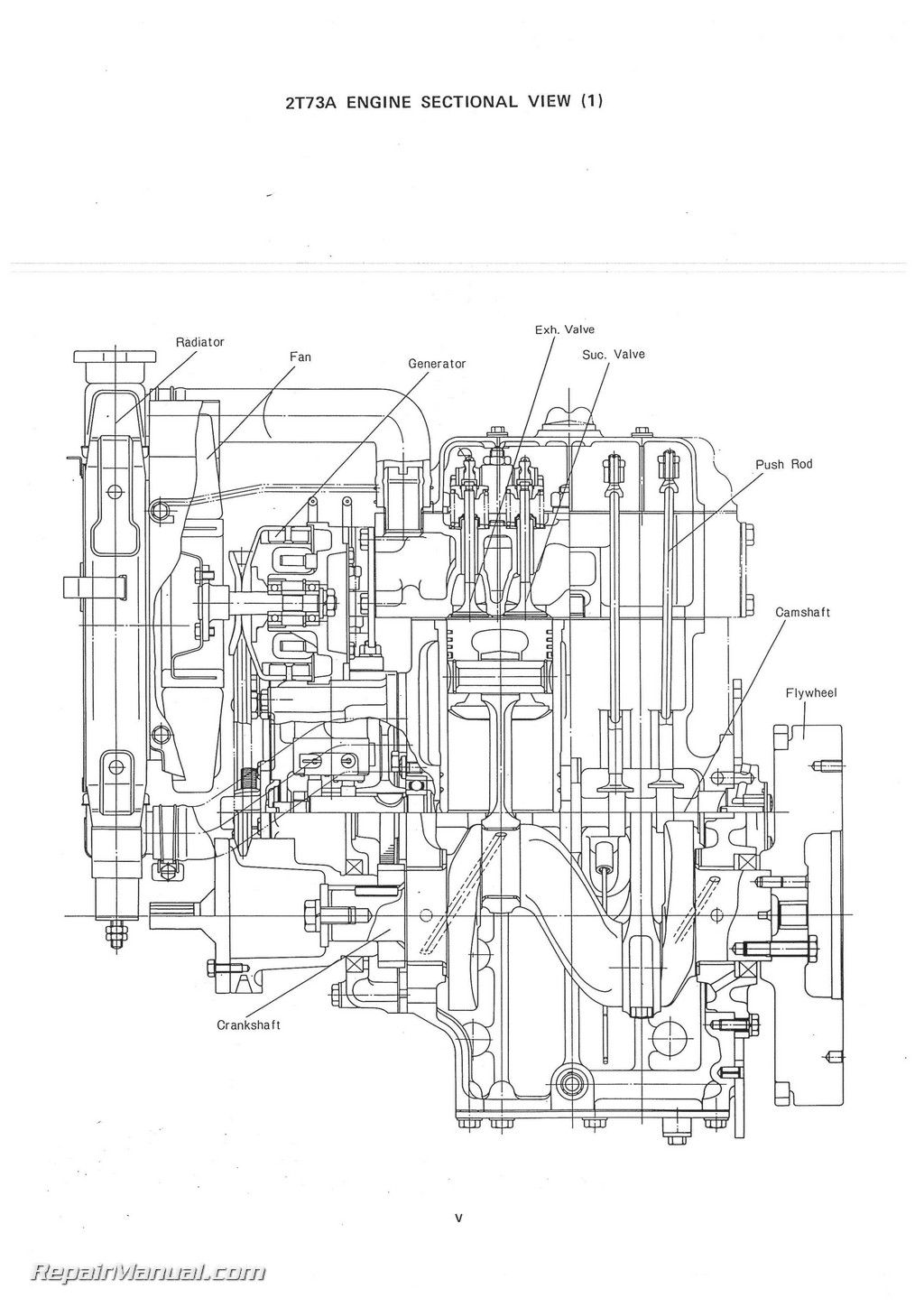 ... yanmar ym135 ym135d sel tractor parts manual rh repairmanual com yanmar  tractor engine diagram yanmar sel