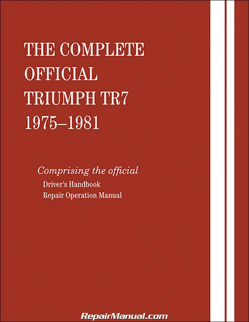 official printed triumph tr7 automobile service  u0026 owners manual - 1975