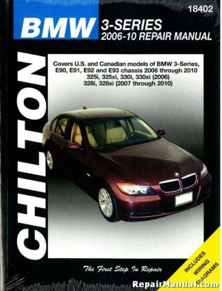 BMW 3 Series 2006-2010 Automotive Service Workshop Repair Manual