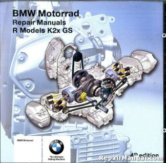 BMW R K2x GS HP2 FACTORY REPAIR MANUAL DVD-ROM