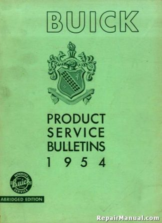 1954 Buick Product Service Bulletins Manual