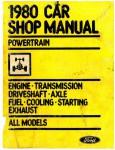 Car Powertrain Shop Manual 1980