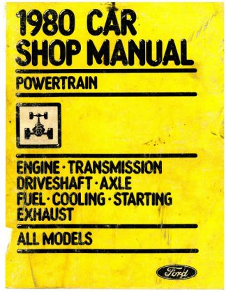 Car Powertrain Shop Manual 1980