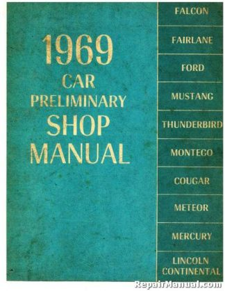 1969 Ford Cars Shop Manual