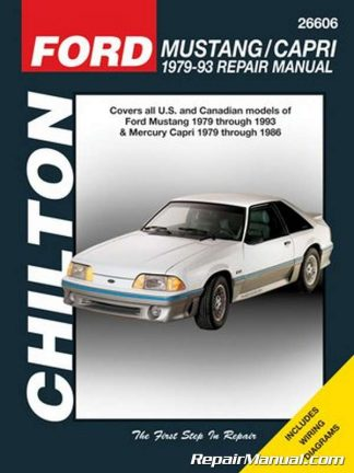 1979-1993 Ford Mustang Automobile Repair Manual by Chilton