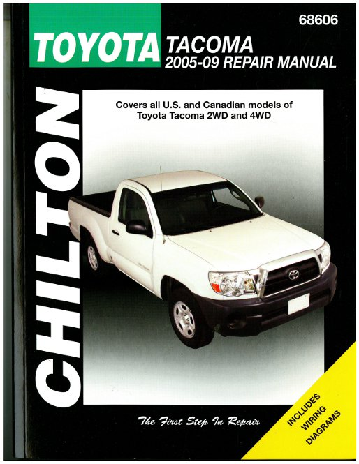 Chilton 2005 2009 toyota tacoma repair manual for Tacoma honda service