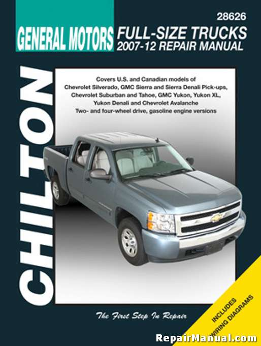 chilton 2007 2012 chevrolet silverado gmc sierra repair manual rh repairmanual com Haynes Repair Manual 1987 Dodge Ram 100 Haynes Repair Manuals Mazda
