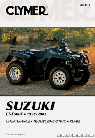 Clymer 1998-2002 Suzuki LTF500 Quadrunner ATV Repair Manual