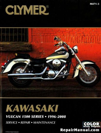 1996-2008 Kawasaki VN1500 Vulcan Repair Manual by Clymer