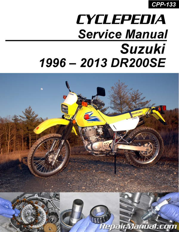 suzuki dr200 se cyclepedia printed motorcycle service manual Motocross Dirt Bikes Suzuki Motocross Bikes